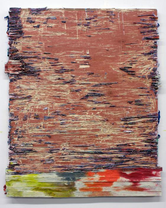 Jacin Giordano. Cutpainting 66, 2015. Acrylic on wood. 30 x 24 in.