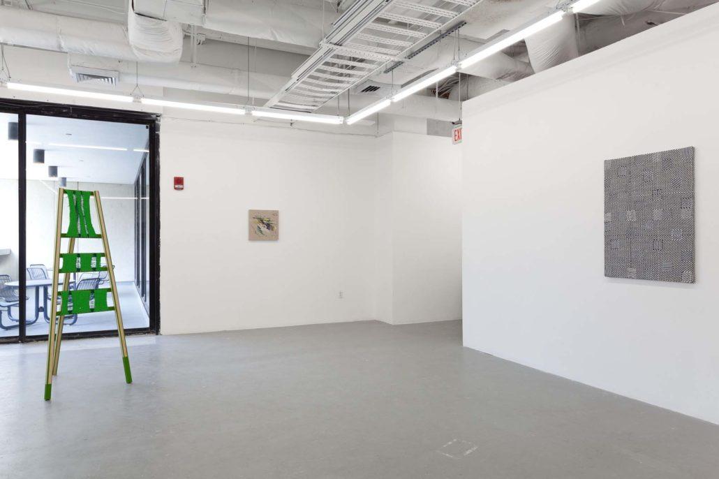 A Thread of Execution installation shot. Work by Moira Holohan, Pip Brant, and Samantha Bittman.