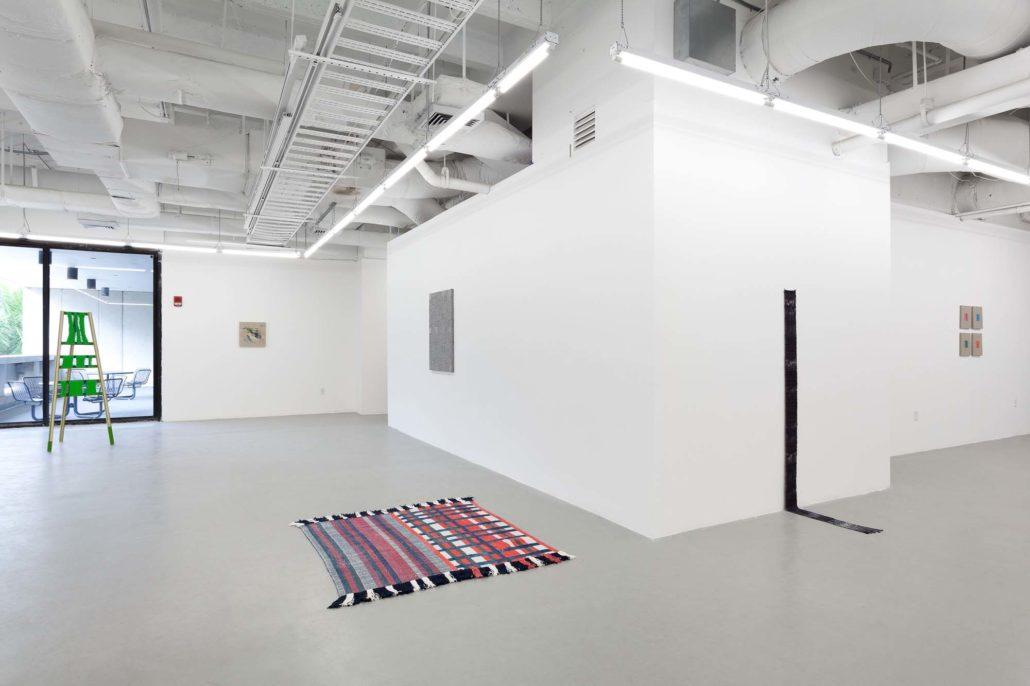 A Thread of Execution installation shot. Work by Moira Holohan, Pip Brant, Samantha Bittman, Diedrick Branckens, Indira Allegra, and Elaine Reichek.