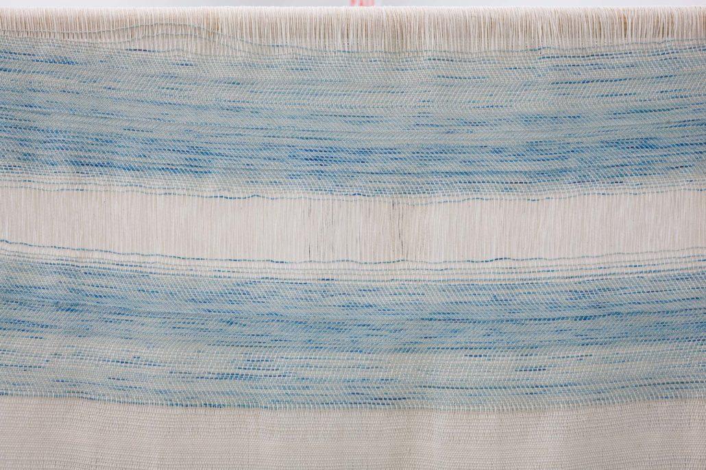 Frances Trombly, Textile drape over wood structure, 2017 detail.