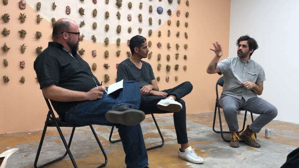 Rene Morales of PAMM, Leyden Rodriguez-Casanova, and Juan Pablo Garza in Conversation at DV