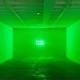 "Erin Thurlow, Alarm, flashing LED sign, 16""x30"", 2020"