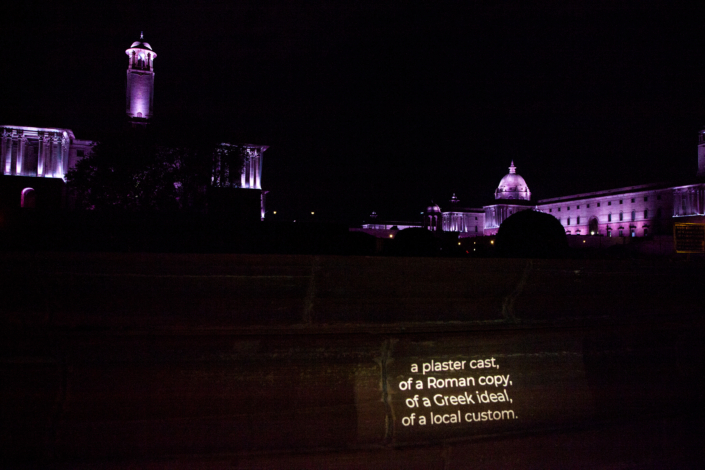 Capital Formation Projections . Rashtrapati bhavanProjected text in public spaces Digital prints